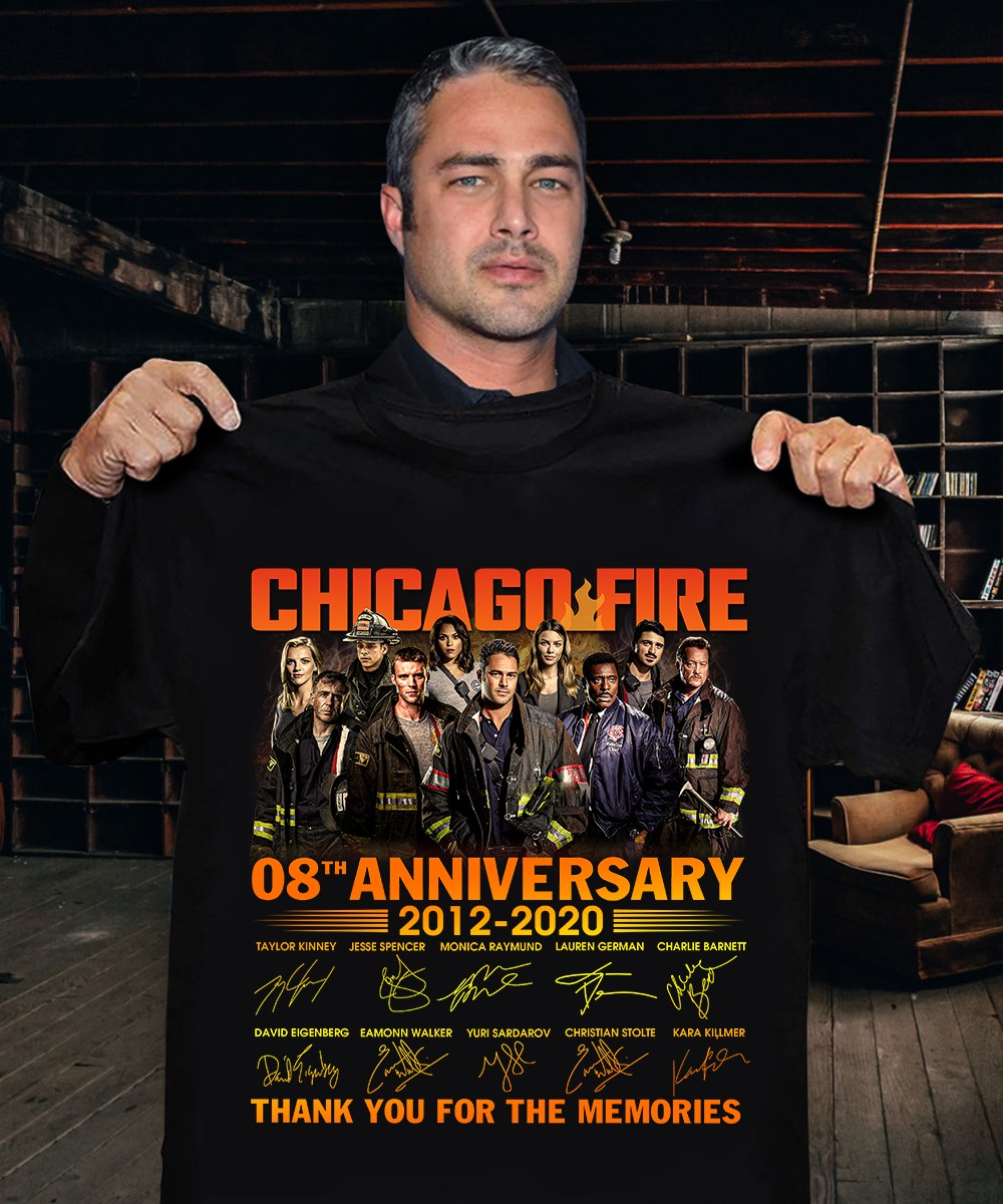 Chicago Fire 08th Anniversary 2012 2020 Thank You For The Memories Signatures Shirt