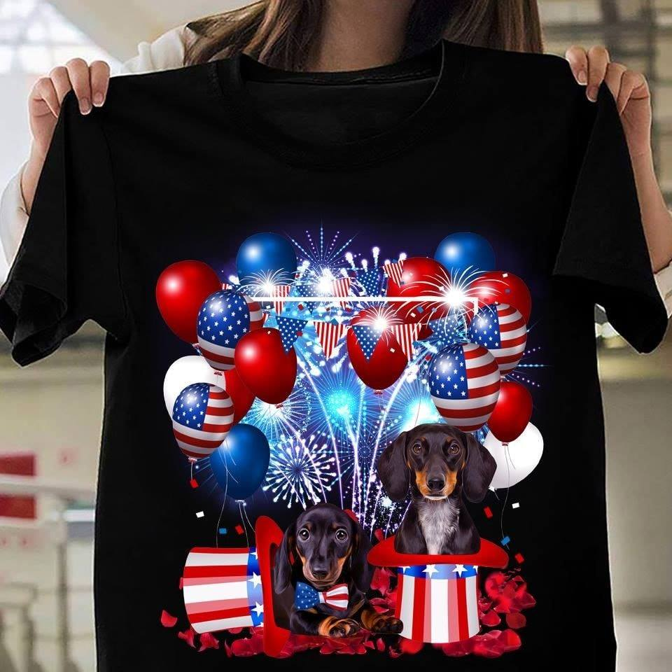 Jeep Girl US Flag Independence Day 4th of July Black T Shirt Woman S-5XL Cotton