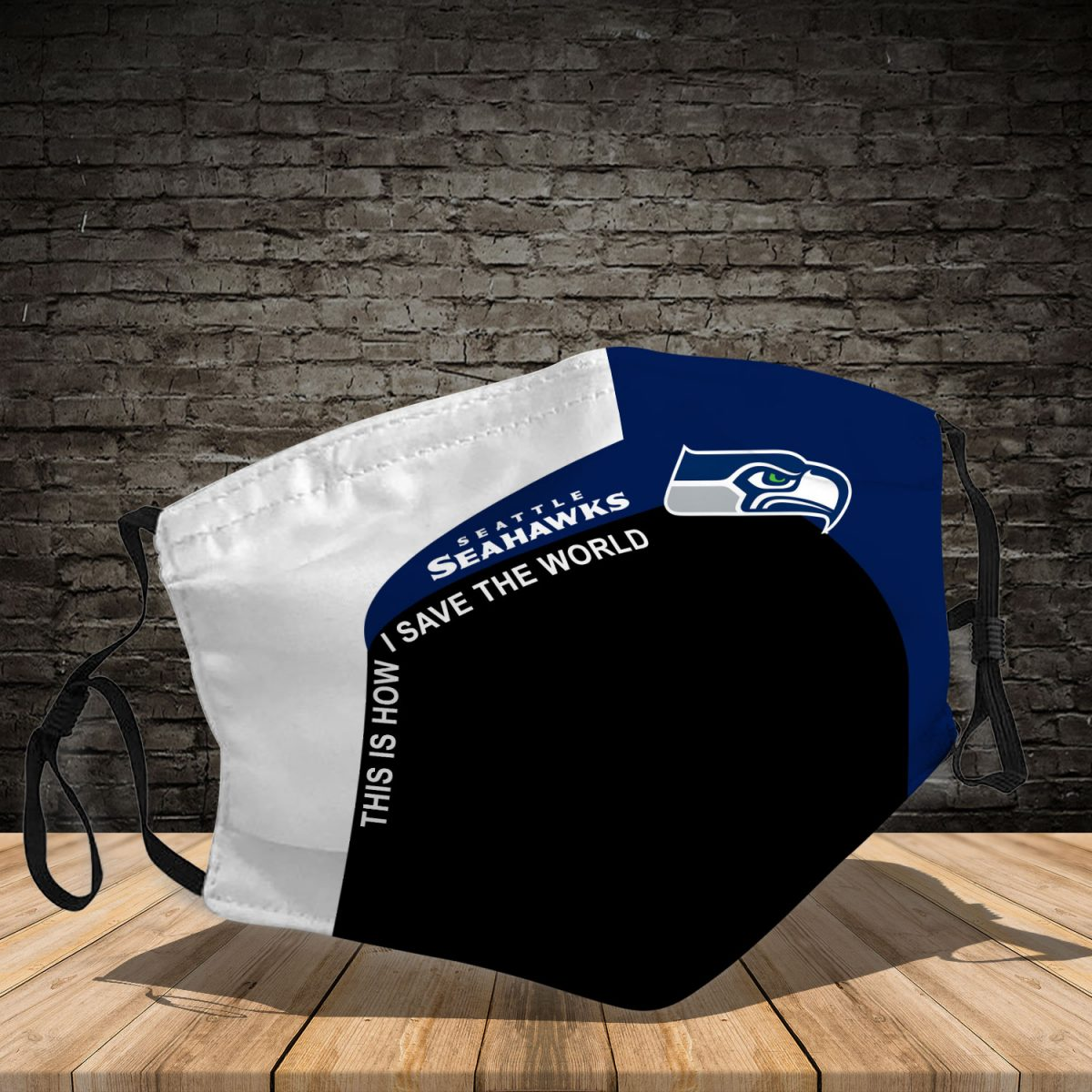 Seattle Seahawks 3D Face Mask