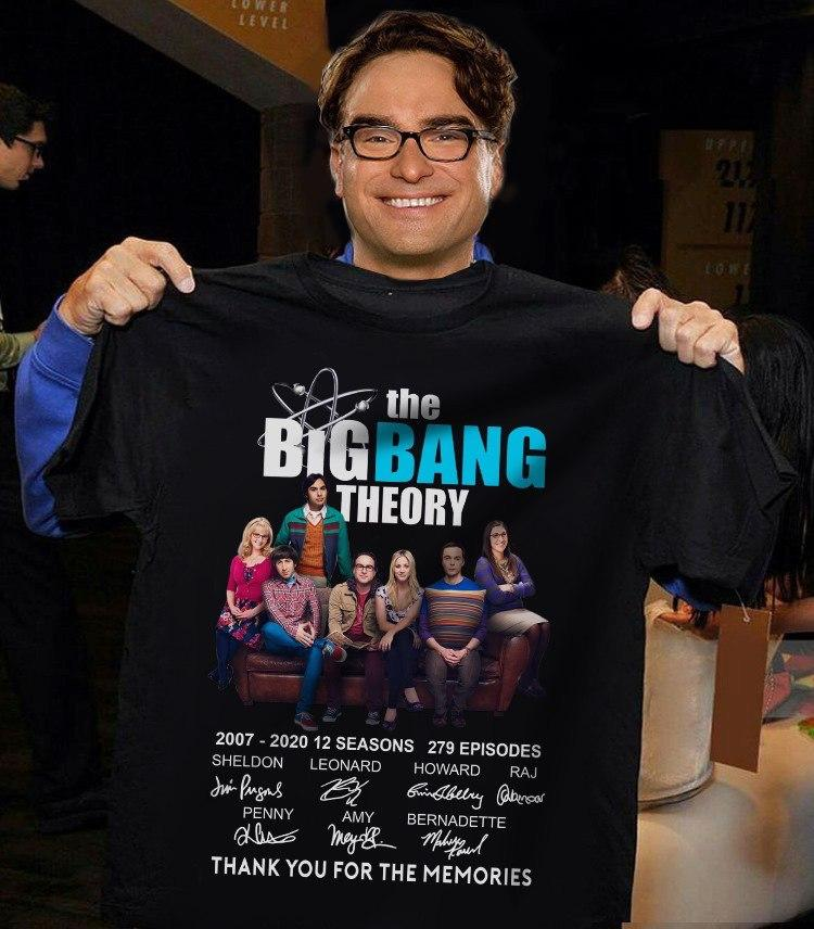 The Big Bang Theory 12 Years Thanks You For The Memories Signature T-Shirt, Sweatshirt, Long Sleeve, Hoodie